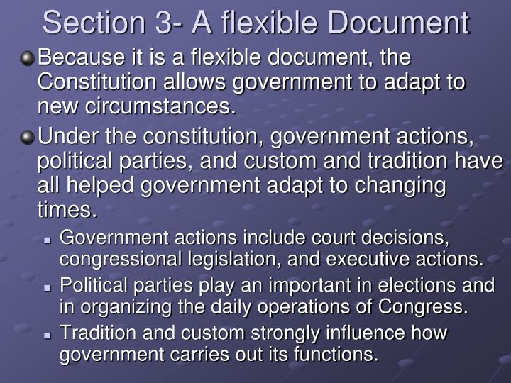 Section 3- A flexible Document