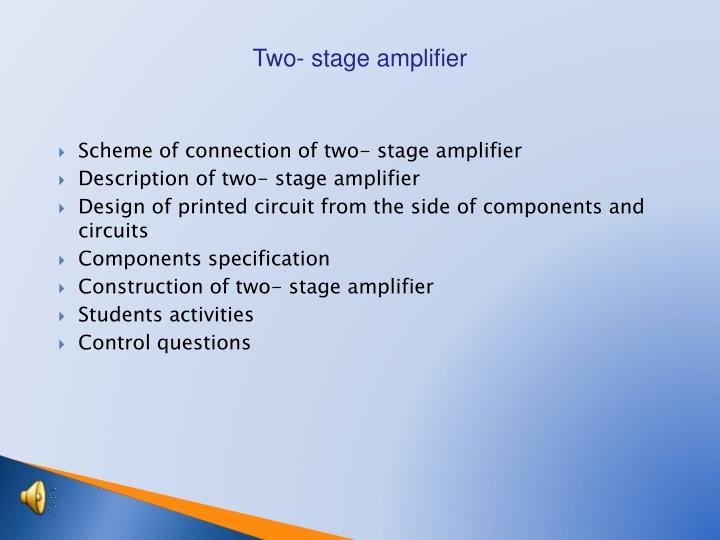 Two- stage amplifier