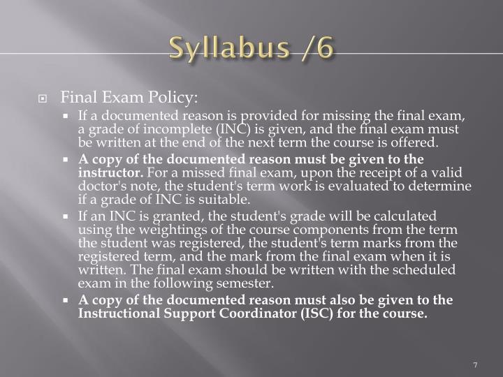 Syllabus /6