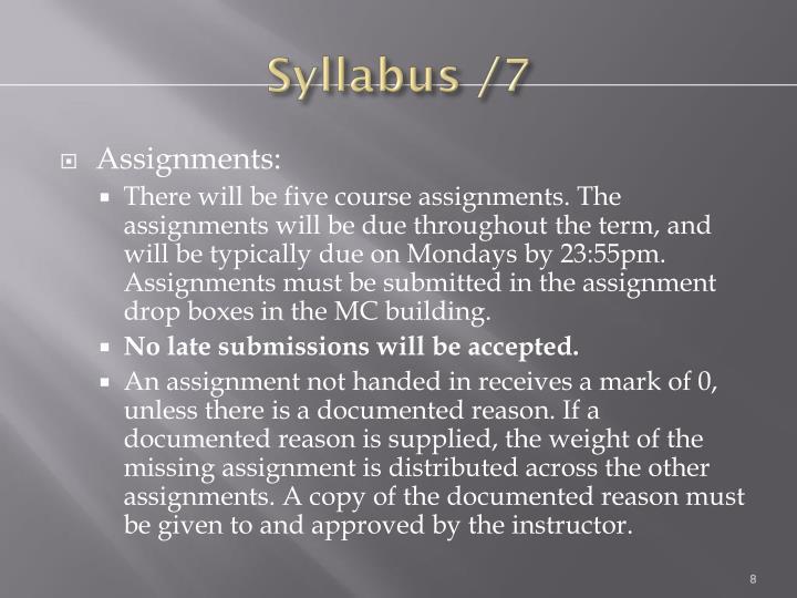 Syllabus /7