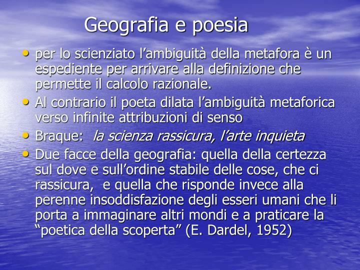 Geografia e poesia
