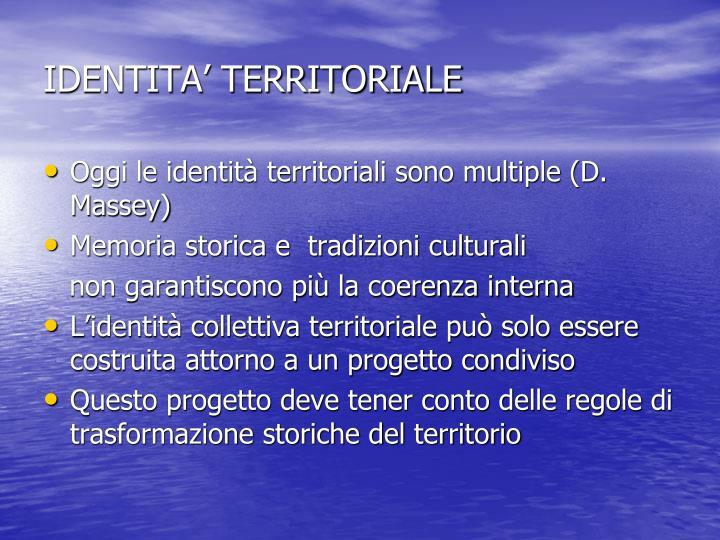 IDENTITA' TERRITORIALE