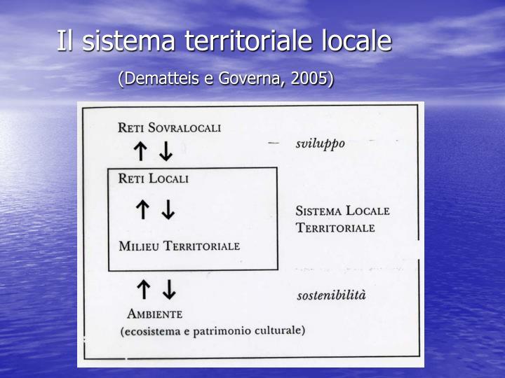 Il sistema territoriale locale