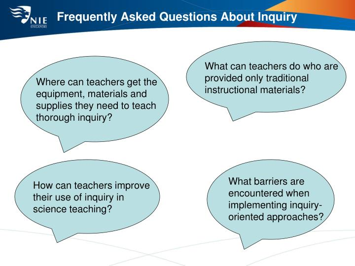 Frequently Asked Questions About Inquiry