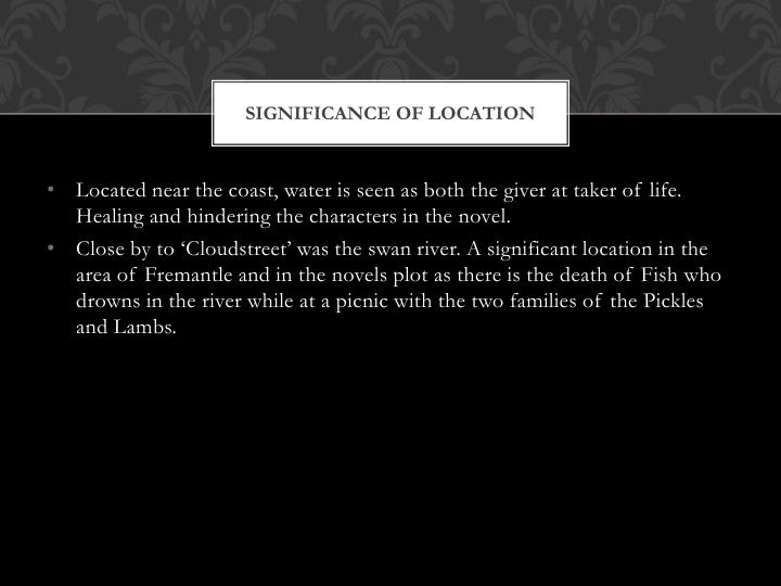Significance Of Location