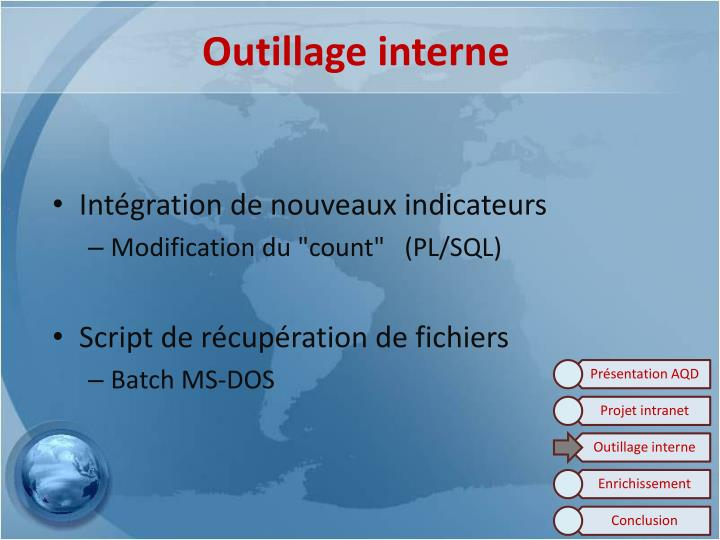 Outillage interne