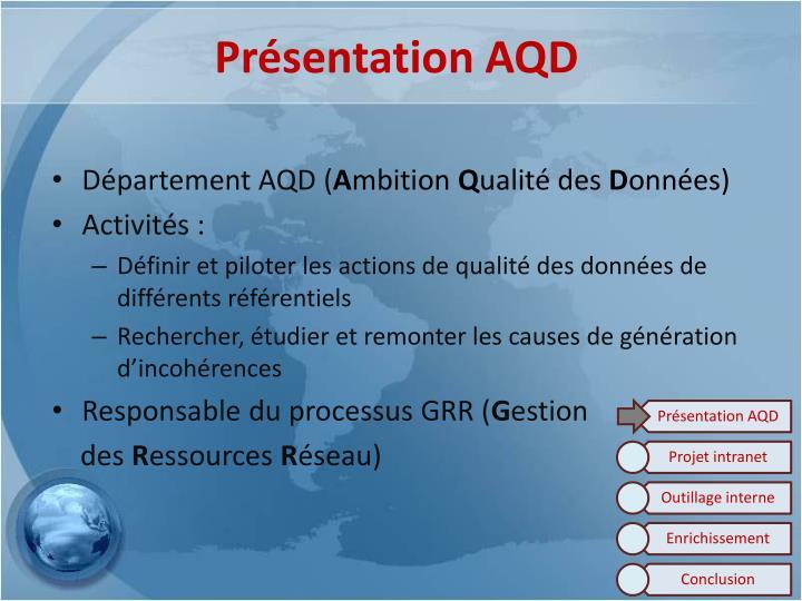 Présentation AQD