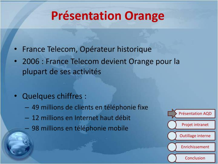Pr sentation orange