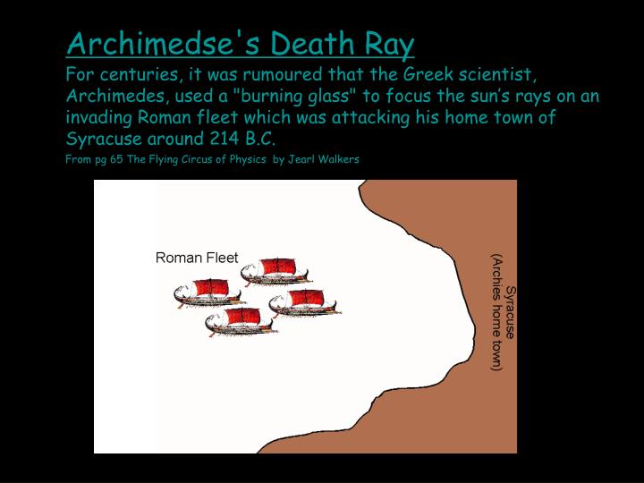 Archimedse's Death Ray