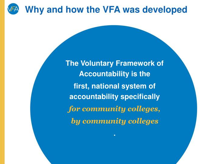 Why and how the VFA was developed