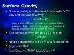 surface gravity1
