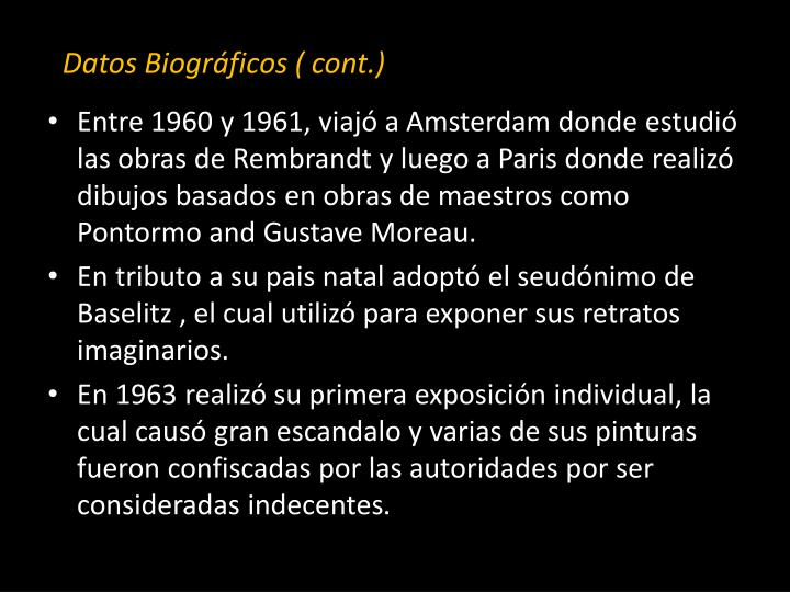 Datos Biográficos ( cont.)