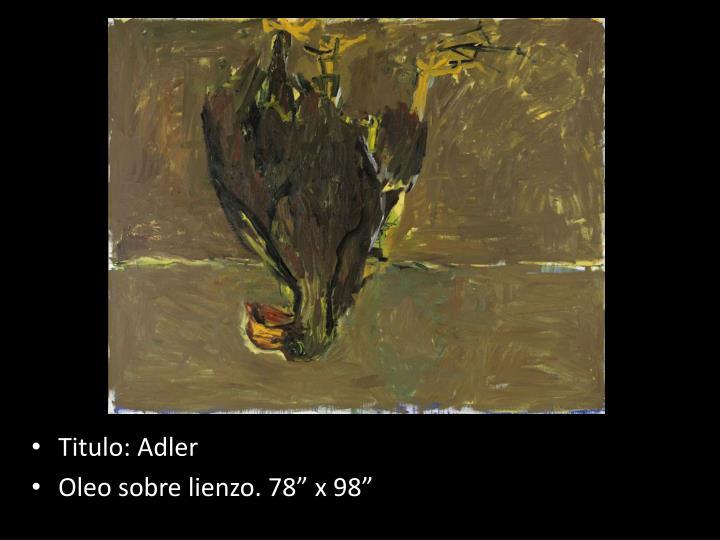 Titulo: Adler