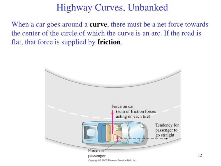 Highway Curves, Unbanked