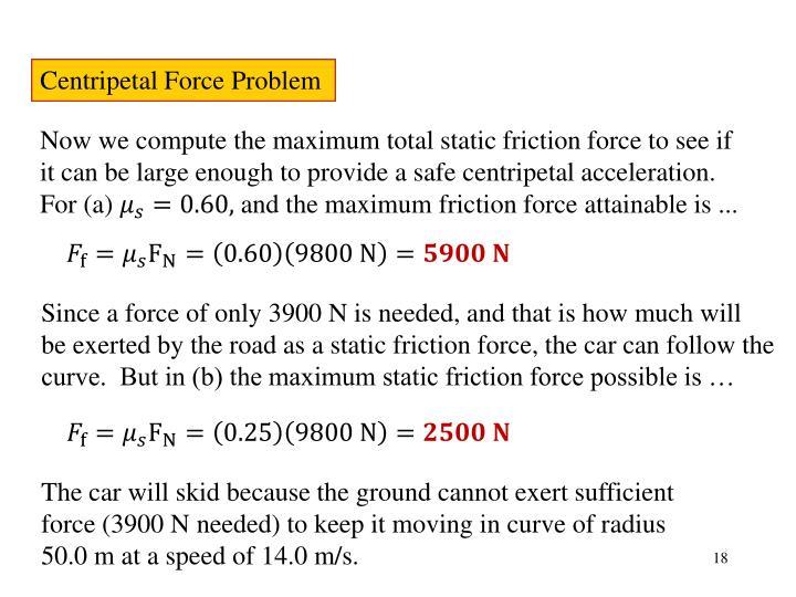 Centripetal Force Problem