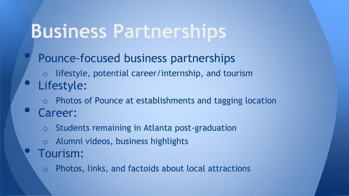 Business Partnerships