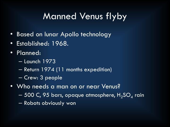 Manned Venus flyby