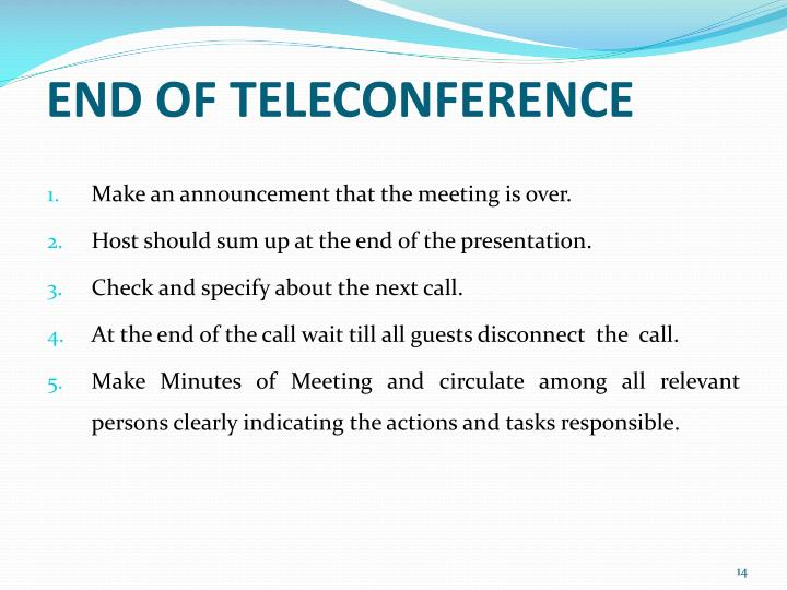 END OF TELECONFERENCE