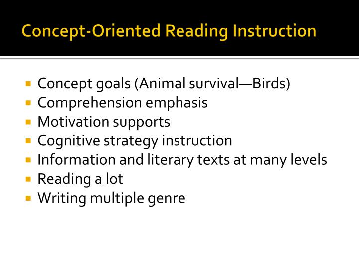Concept-Oriented Reading Instruction