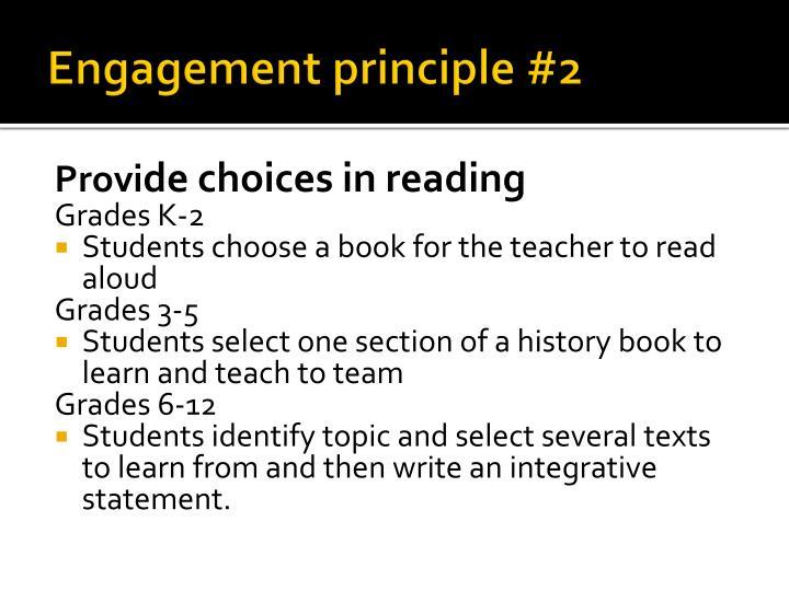 Engagement principle #2