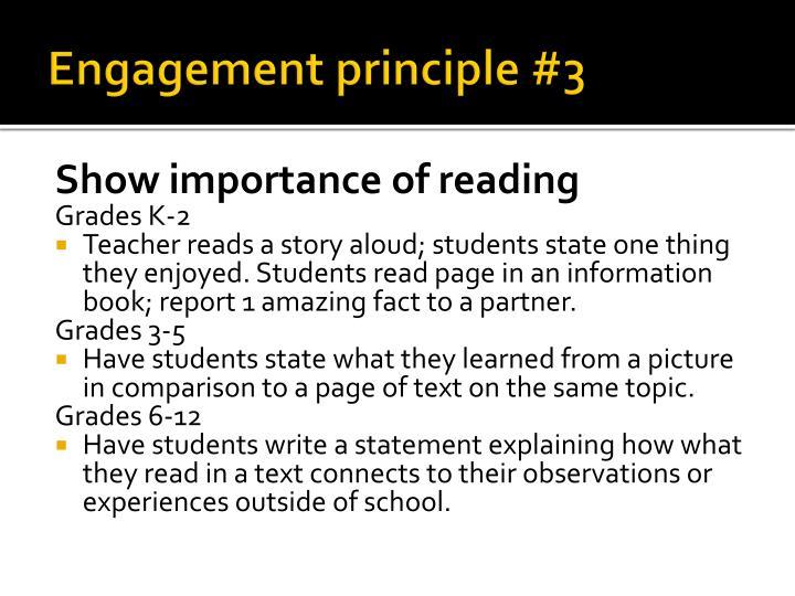 Engagement principle #3