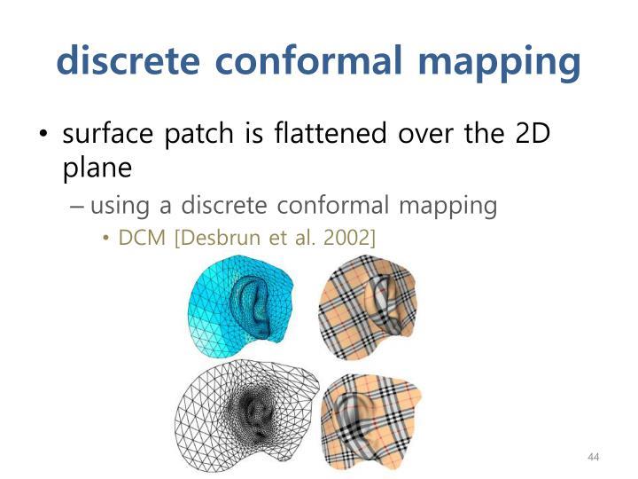discrete conformal mapping