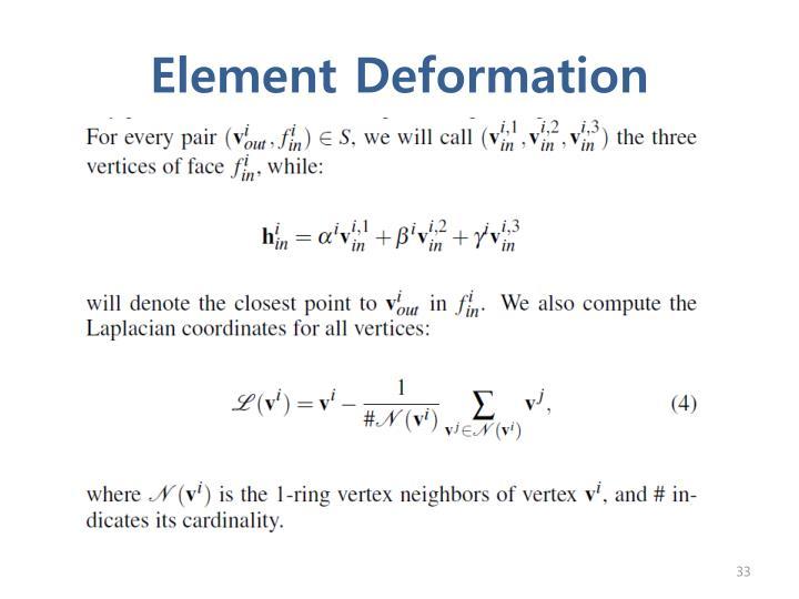 Element Deformation