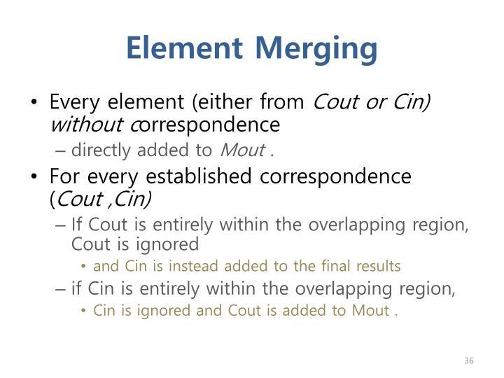 Element Merging