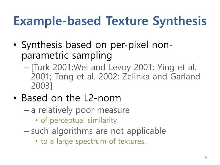 Example-based Texture Synthesis