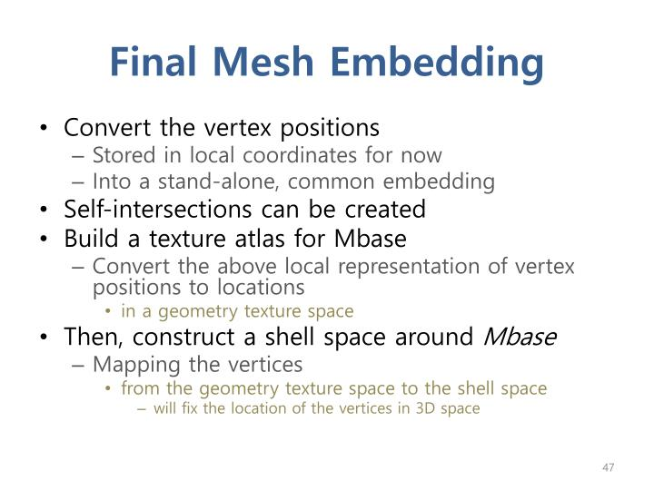 Final Mesh Embedding