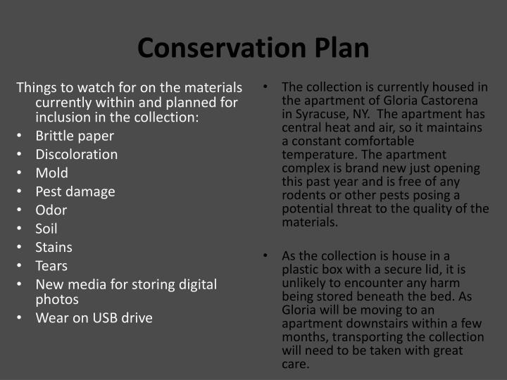 Conservation Plan