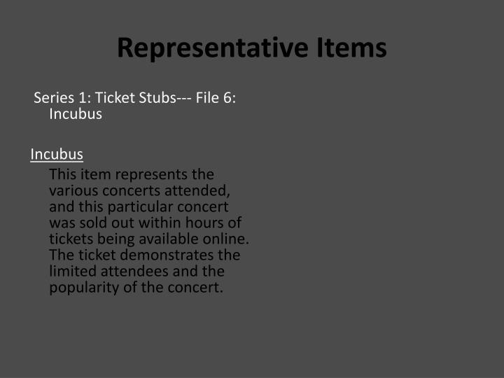 Representative Items