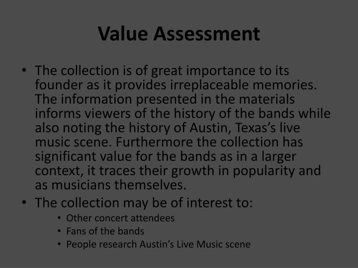 Value Assessment