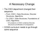 a necessary change