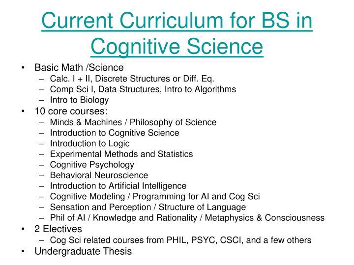 Current Curriculum