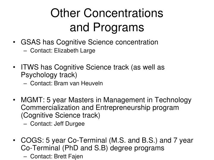 Other Concentrations