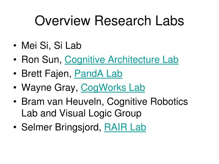 Overview Research
