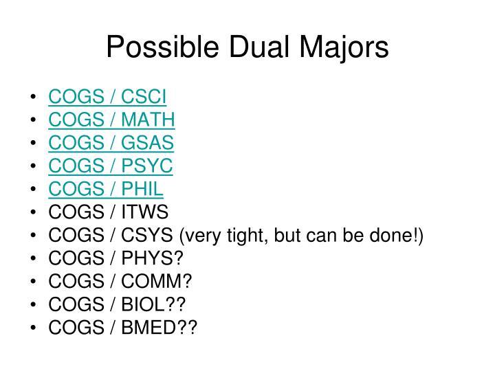 Possible Dual Majors