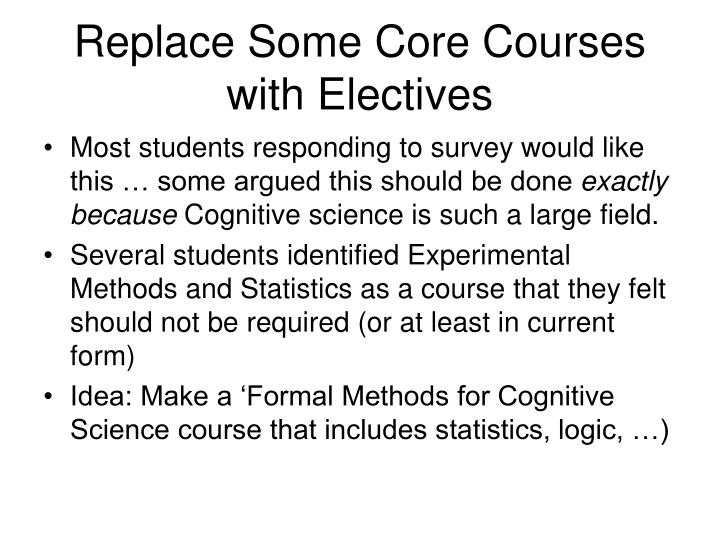 Replace Some Core Courses with Electives