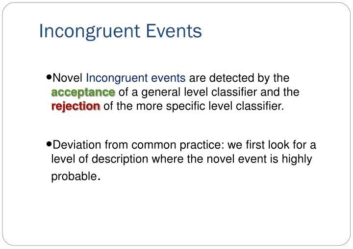 Incongruent Events
