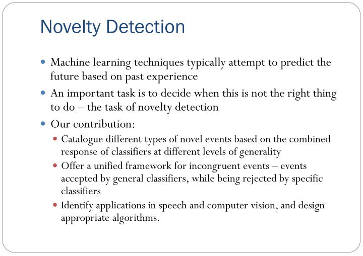 Novelty Detection