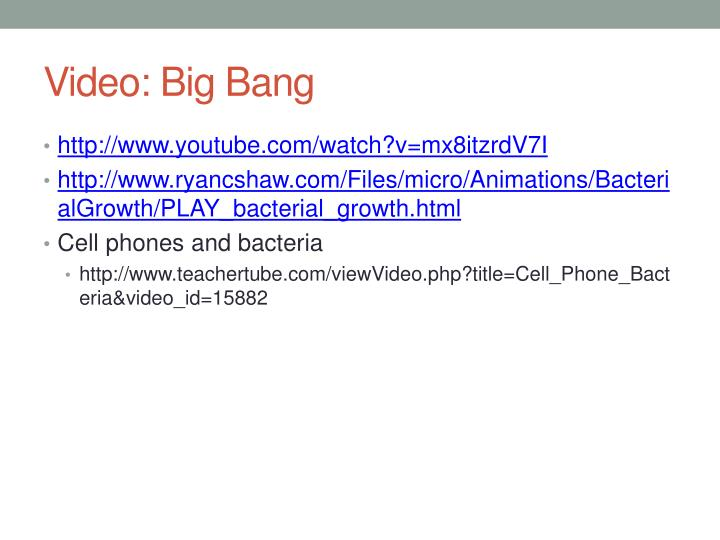 Video: Big Bang