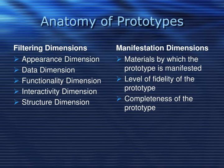 Anatomy of Prototypes