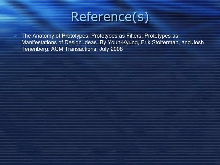 Reference(s)