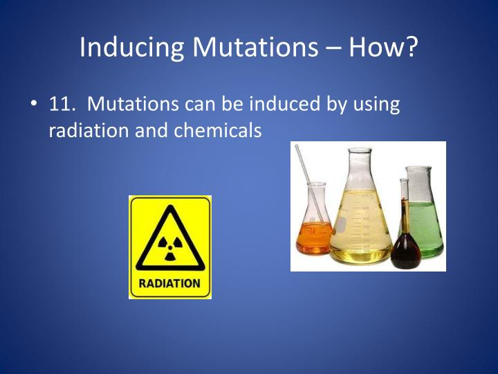 Inducing Mutations – How?