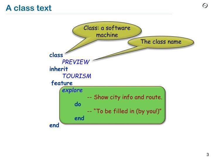 A class text