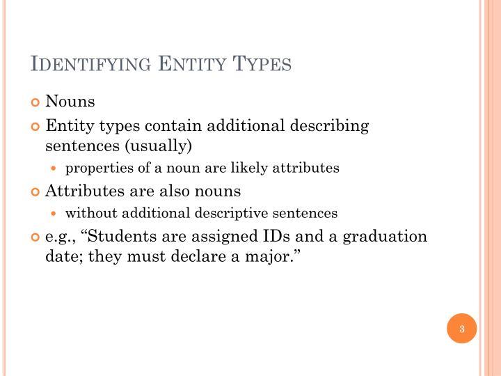 Identifying Entity Types