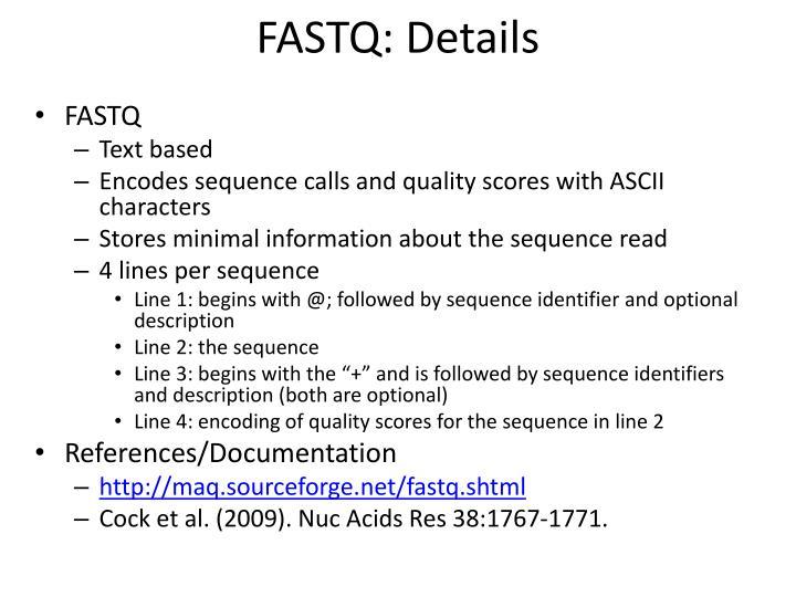 FASTQ: Details