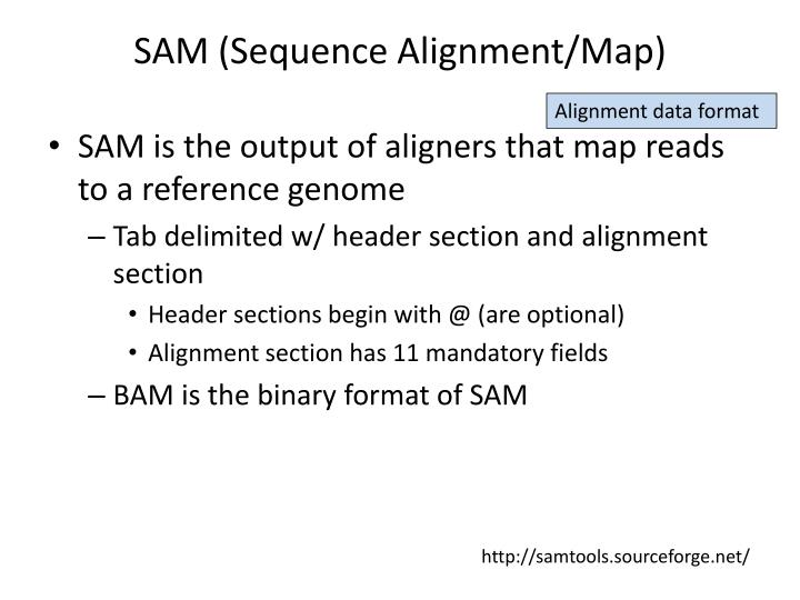 SAM (Sequence Alignment/Map)
