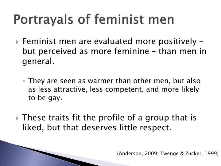 Portrayals of feminist men